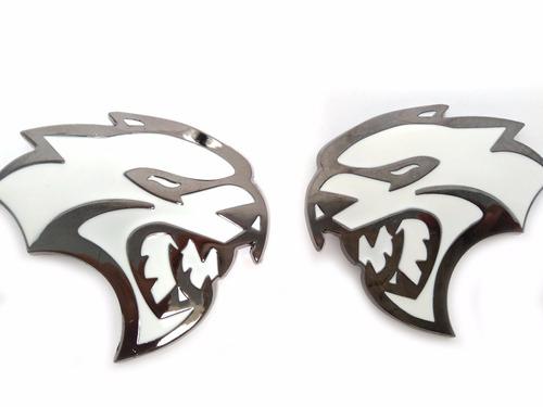 par emblemas hellcat srt 8 challenger charger cherokee jeep