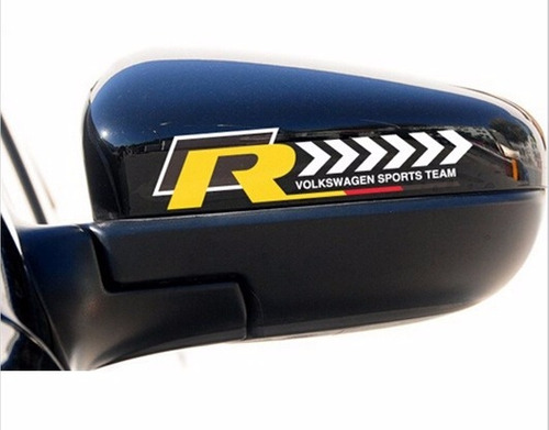 par emblemas r line retrovisor - fusca gol golf jetta gol