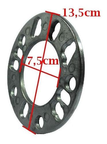 par espaçador alargador para roda universal 4 e 5 furos(6mm)