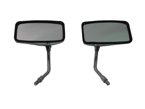 par espelho retrovisor cromado retangular universal