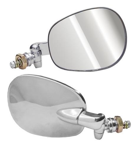par espelho retrovisor vw fusca brasilia inox cromado