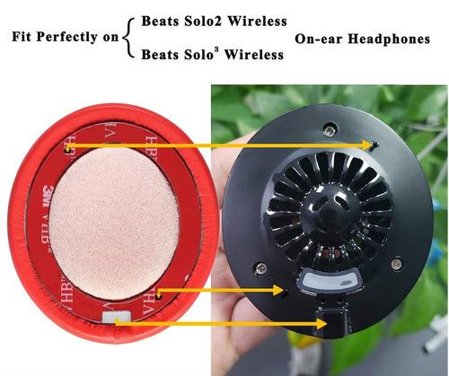 par espuma almofadas beats solo 2.0/3.0 wireless vermelho 3m