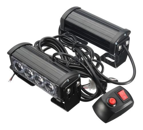 par estrobo modulos de 4 leds switch 8 modos de flasheo 12v