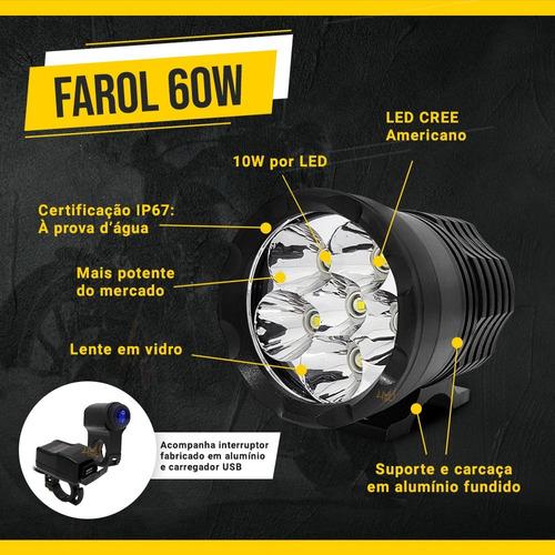 par farol auxiliar 60w tp xenon led harley-davidson roadster