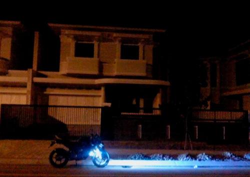 par farol de milha led canhão 30w moto angel blue 12v/80