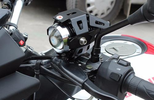 par farol milha universal led u5 auxiliar moto buggy xenon