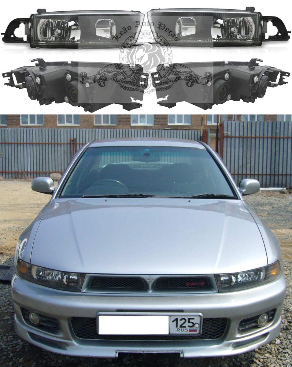 Par Farol Mitsubishi Galant 1997 1998 1999 00 2001 2002 Novo R