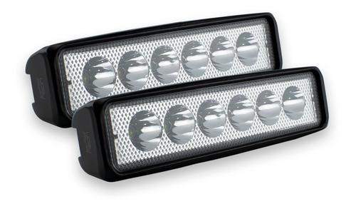 par faros 6 hiper led auxiliar 18w barra luz fija