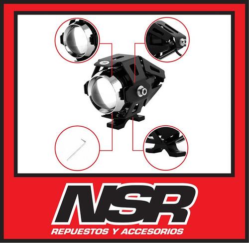 par faros auxiliar led cree u5 15w 3000lm +potente nsr motos