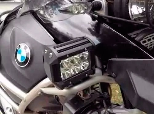 par faros auxiliares 6 led cree 18w moto cuatri - sti motos