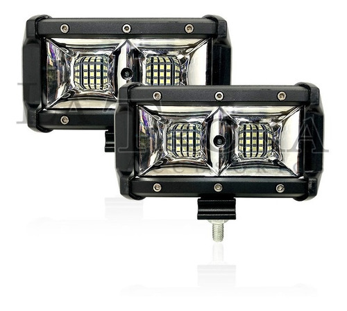 par faros de led 72w 18 leds dually double dot c/ estrobo