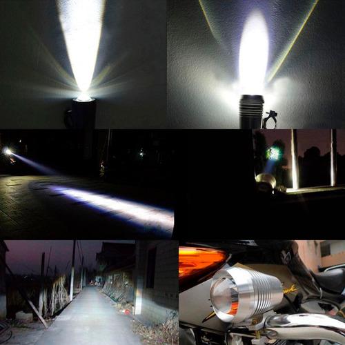 par faros u2 osun led 10w luz para moto auxiliar universal
