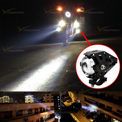par faros u5 auxiliar led cree 15w 3000lm +potente c/ switch