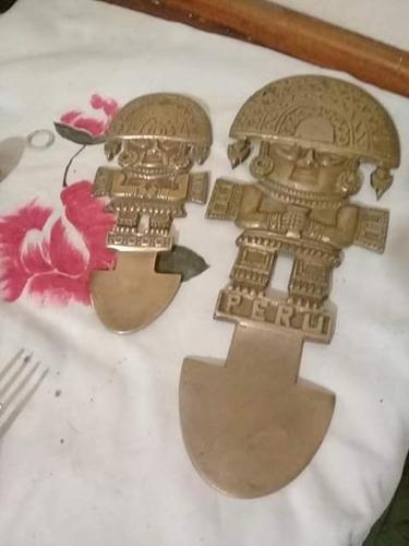 par figuras peruanas de bronce