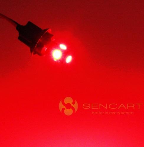 par focos led t10 (fijos y flash) - rojos - 12v -nuevos