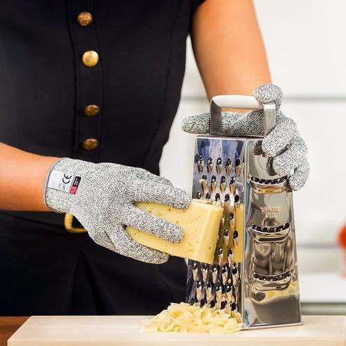 par guantes de seguridad anticorte alambre acero inoxidable