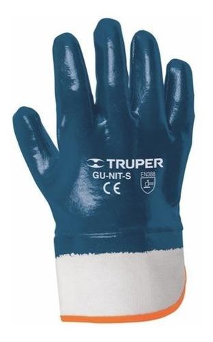 par guantes nitrilo algodon puño seguridad truper