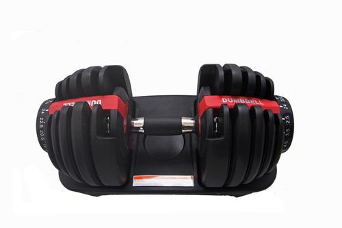 par halter regulável vermelho 24kg dumbell drumbell anilha