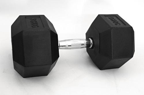 par halter sextavado 60 kg profissional - dumbbell