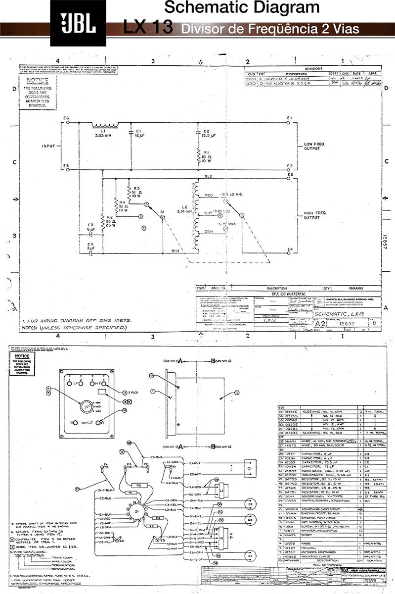 Dorable Jbl L40 Crossover Component - Electrical Diagram Ideas ...