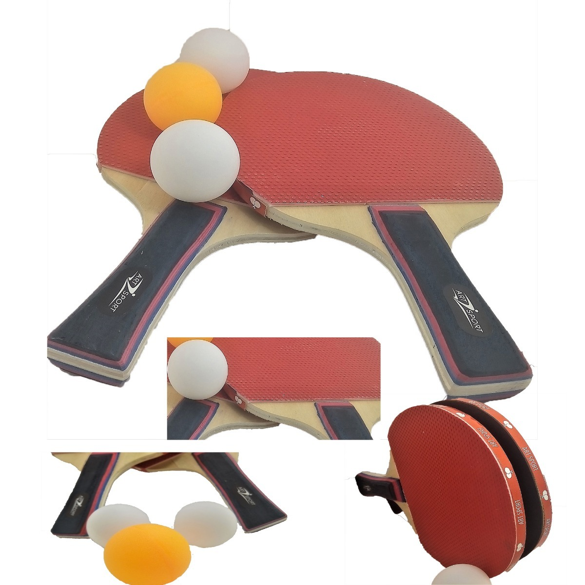 a0996dd66 Par Jogo Raquete Ping Pong Kit Para Mesa Tenis + 3 Bolinha - R  19 ...