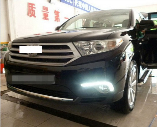 par kit set luz de dia led drl toyota highlander 2012 2013