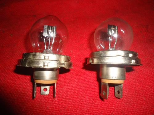 par lampada farol fusca antigo modelo pera  osram 12v