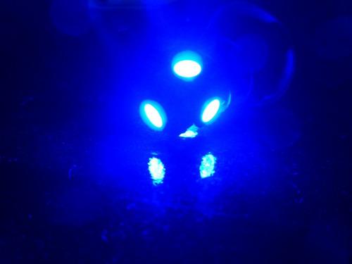 par lampada pingo t10 (w5w) com 5 leds 5050 na cor azul
