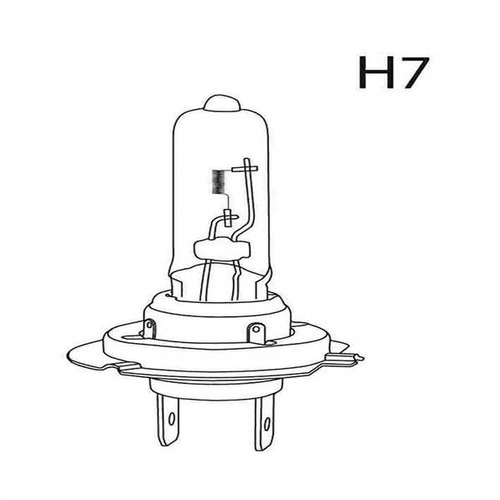 par lampada super branc h7 audi a3 2007/2003 milha 55w 5000k