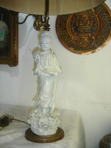 par lamparas porcelana oriental blanc de chine figuras miri