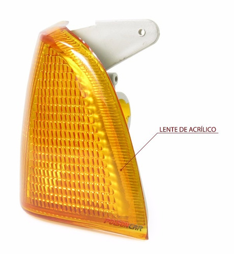 par lanterna dianteira corcel belina 85 86 acrilico ambar