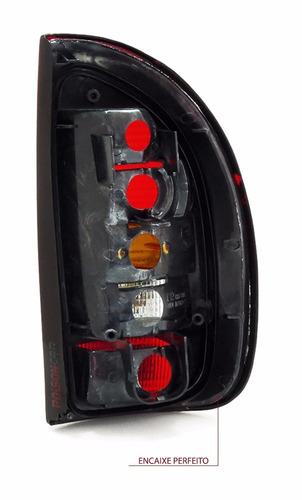 par lanterna traseira pickup corsa 96 97 98 99 fume acrilica