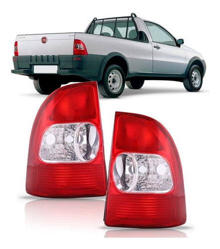 par lanterna traseira strada fire 2001 2002 2003 bicolor