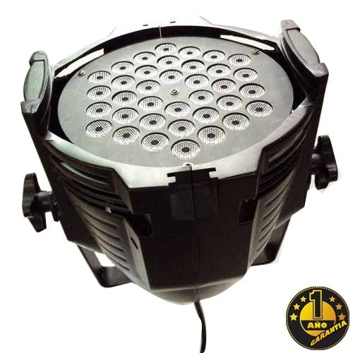 par led negro proton profesional 54x3 watts tacho rgb dj dmx