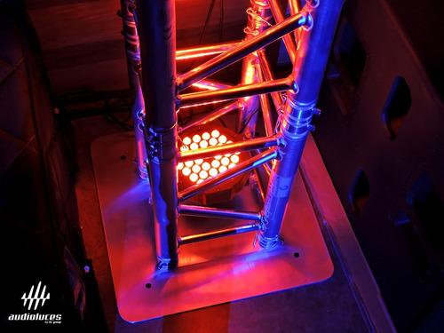 par led pl023f de 36x1.5w rojo, verde, azul  pl pro light