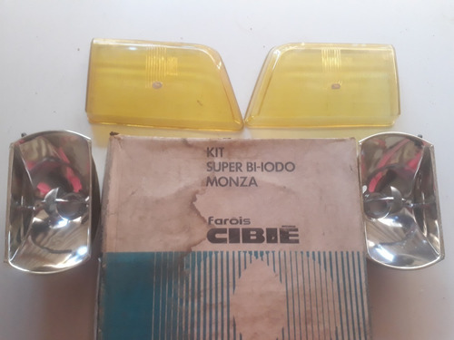 par lente farol cibie monza 88/90 bi-iodo kit foco amarelo