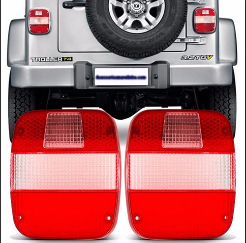 par lente lnt. traseira p/ jeep/troller/ford/vw seta branca