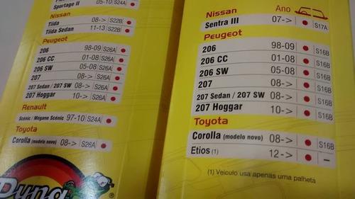 par limpador diant.peugeot 207 sw s16b / s26a  orig.silicone