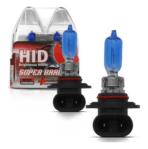 par lâmpada hb3 super branca dc 12v 8400k
