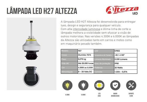 par lâmpada led h27 6500k altezza original garantia 1 ano