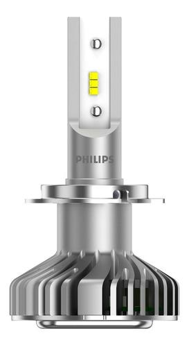par lâmpada philips ultinon led h7 6200k luxeon +160% luz