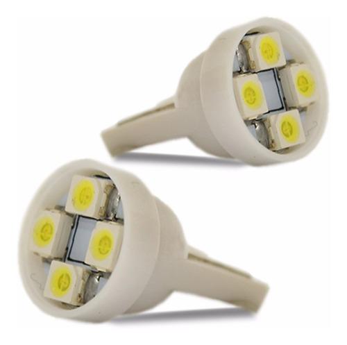 par lâmpada pingo t10 4 leds 12v super branca tipo xênon