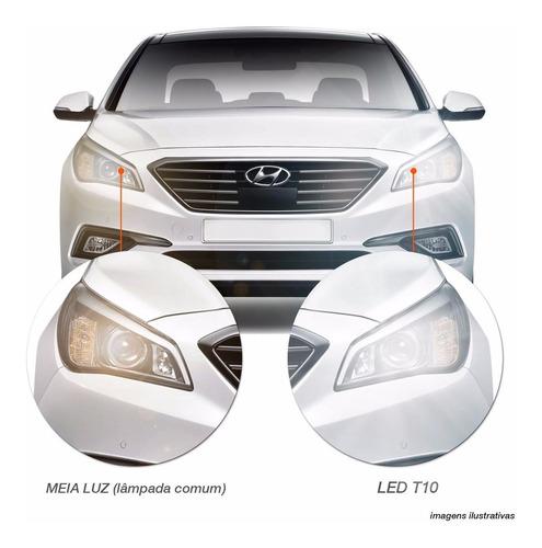 par lâmpada pingo t10 4 leds super branca tipo xênon carro