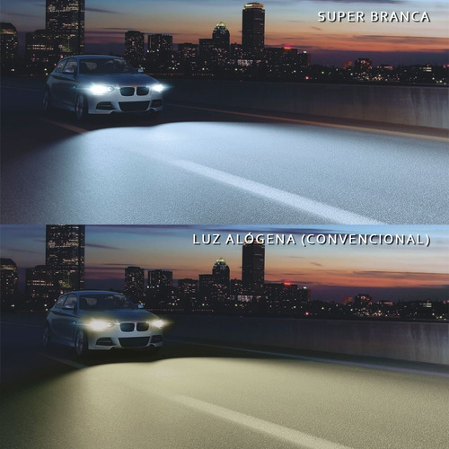 par lâmpada super branca h1 h4 h7 h8 h11 hb3 hb4 12v 55w