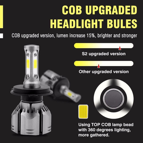 par luces ampolleta led auto cob 12000 lm r11 ml0847