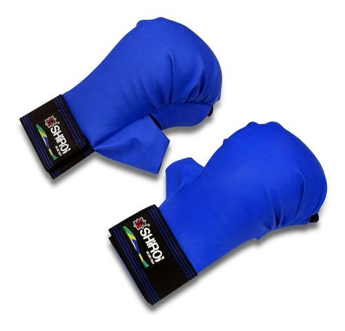 par luva karate azul / vermelha / branca oficial shiroi