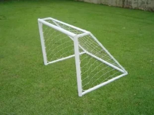 Par Mini Trave Aço Carbono Golzinho Futebol 1 42fcf6ac85dd3