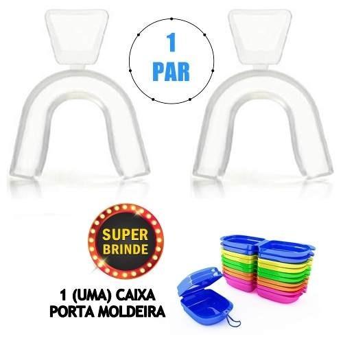 Par Moldeira Termomoldavel Clareamento Dentes Brinde R 20 00