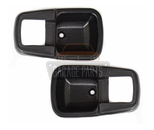 par molduras maçaneta porta fusca brasilia tl caminhão preta