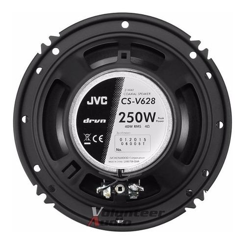 par parlantes para carro jvc cs v628 250w 2 vias 16cm